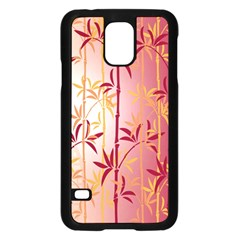 Bamboo Tree New Year Red Samsung Galaxy S5 Case (Black)