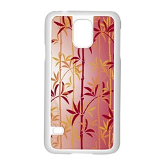 Bamboo Tree New Year Red Samsung Galaxy S5 Case (White)