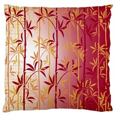 Bamboo Tree New Year Red Standard Flano Cushion Case (One Side)