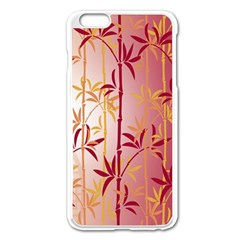 Bamboo Tree New Year Red Apple iPhone 6 Plus/6S Plus Enamel White Case