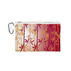 Bamboo Tree New Year Red Canvas Cosmetic Bag (S)