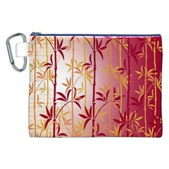 Bamboo Tree New Year Red Canvas Cosmetic Bag (XXL)