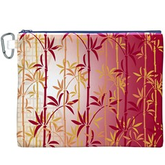 Bamboo Tree New Year Red Canvas Cosmetic Bag (XXXL)