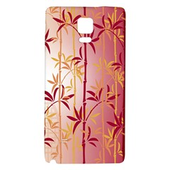 Bamboo Tree New Year Red Galaxy Note 4 Back Case