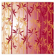 Bamboo Tree New Year Red Large Satin Scarf (Square)