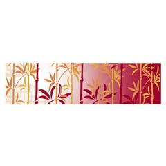 Bamboo Tree New Year Red Satin Scarf (Oblong)