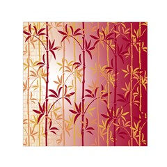 Bamboo Tree New Year Red Small Satin Scarf (Square)