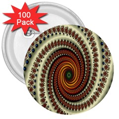 Ektremely 3  Buttons (100 pack)