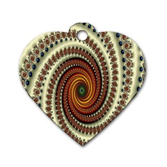 Ektremely Dog Tag Heart (Two Sides)