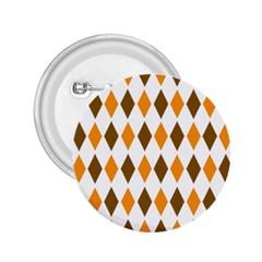Brown Orange Retro Diamond Copy 2.25  Buttons