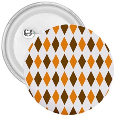 Brown Orange Retro Diamond Copy 3  Buttons
