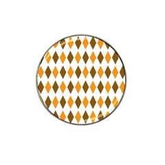 Brown Orange Retro Diamond Copy Hat Clip Ball Marker (4 pack)