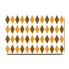 Brown Orange Retro Diamond Copy Small Doormat
