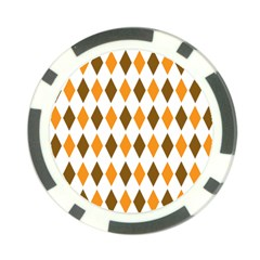 Brown Orange Retro Diamond Copy Poker Chip Card Guards (10 pack)