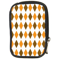 Brown Orange Retro Diamond Copy Compact Camera Cases