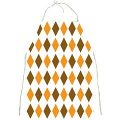 Brown Orange Retro Diamond Copy Full Print Aprons