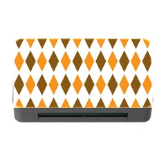 Brown Orange Retro Diamond Copy Memory Card Reader with CF