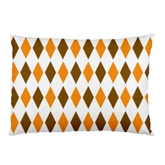 Brown Orange Retro Diamond Copy Pillow Case (Two Sides)