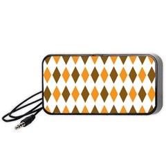Brown Orange Retro Diamond Copy Portable Speaker (Black)
