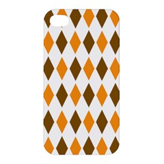 Brown Orange Retro Diamond Copy Apple iPhone 4/4S Hardshell Case