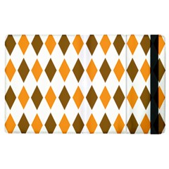 Brown Orange Retro Diamond Copy Apple iPad 2 Flip Case
