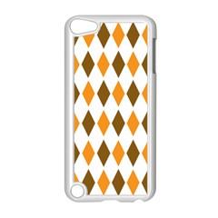 Brown Orange Retro Diamond Copy Apple iPod Touch 5 Case (White)