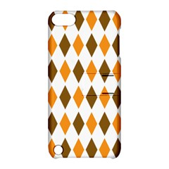 Brown Orange Retro Diamond Copy Apple iPod Touch 5 Hardshell Case with Stand