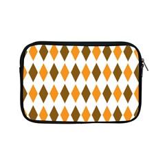 Brown Orange Retro Diamond Copy Apple iPad Mini Zipper Cases