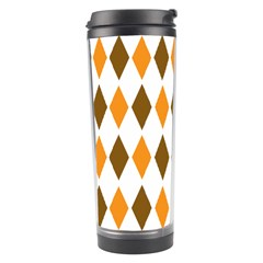 Brown Orange Retro Diamond Copy Travel Tumbler