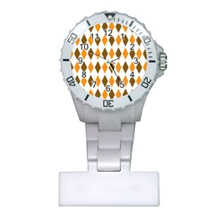 Brown Orange Retro Diamond Copy Plastic Nurses Watch