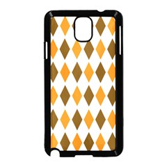 Brown Orange Retro Diamond Copy Samsung Galaxy Note 3 Neo Hardshell Case (Black)