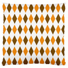 Brown Orange Retro Diamond Copy Large Flano Cushion Case (One Side)