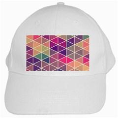 Chevron Colorful White Cap
