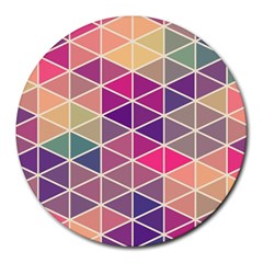 Chevron Colorful Round Mousepads