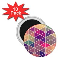 Chevron Colorful 1.75  Magnets (10 pack)