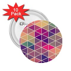 Chevron Colorful 2.25  Buttons (10 pack)