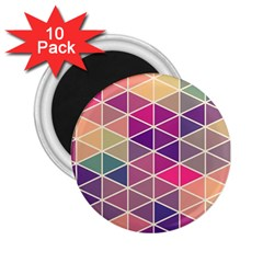 Chevron Colorful 2.25  Magnets (10 pack)