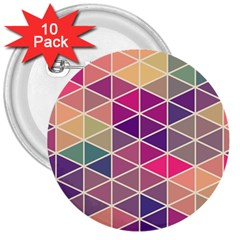 Chevron Colorful 3  Buttons (10 pack)