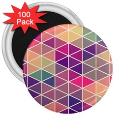Chevron Colorful 3  Magnets (100 pack)
