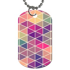 Chevron Colorful Dog Tag (Two Sides)