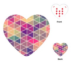 Chevron Colorful Playing Cards (Heart)
