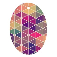 Chevron Colorful Oval Ornament (Two Sides)