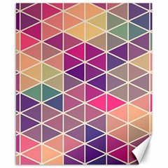Chevron Colorful Canvas 8  x 10