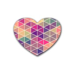 Chevron Colorful Heart Coaster (4 pack)