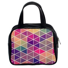 Chevron Colorful Classic Handbags (2 Sides)