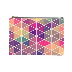 Chevron Colorful Cosmetic Bag (Large)