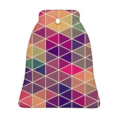 Chevron Colorful Bell Ornament (2 Sides)