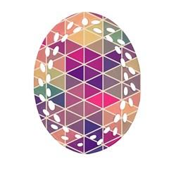 Chevron Colorful Ornament (Oval Filigree)