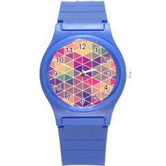 Chevron Colorful Round Plastic Sport Watch (S)