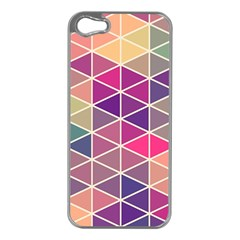 Chevron Colorful Apple iPhone 5 Case (Silver)
